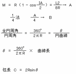 土方カーブ計算方法