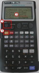 fx-5800P小数点以下の桁数を変更